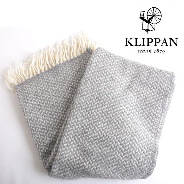 【SALE】Klippan クリッパン スローケット polka ポルカ グレー (130×200cm) / ひざ掛け 毛布 ブランケット ウールスローケット 北欧 大判 ギフト