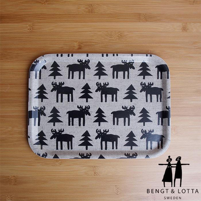 \★在庫処分セール★/【あす楽対応】Bengt&Lotta/ベングト&ロッタ トレイ 小サイズ ムース(20×27cm)/Small trays Moose/ウッドトレイ・トレー