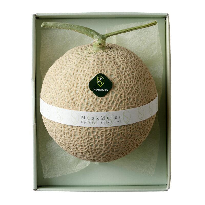 千疋屋総本店(せんびきや) マスクメロン1個(約1.25kg)化粧箱入