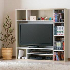 テレビ周りに収納力 ハイタイプテレビボード 幅115 【送料無料】 壁面収納 ハイタイプテレビ台 激安 安い 格安 カラーボックス 棚 32インチ 32V ローボード 収納 テレビラック 一人暮らし