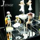 フィギュアを立体的に飾る♪ アクリル ひな壇 J -STAGE[ジェイ・ステージ] 2段・高さ50/100set 【7000円以上で送料…