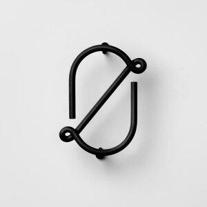 フック 0 ブラック / WIRE NUMBER (Nak Nak / ナックナック) 壁 引っ掛け 金具 壁掛け おしゃれ 玄関 リビング 収納 ウォールフック ユニーク 鍵 キーフック スチール デザイン 北欧風 吊り下げ 吊下