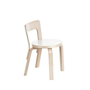 イス チェアN65 子ども用 / ホワイトラミネート (artek アルテック / Carry Away) 椅子 ダイニングチェア ダイニング ダイニング椅子 おしゃれ アンティーク 木製 家具 白 ホテル カフェ インテリア