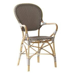 ラタン チェア 椅子 アームチェア イス いす インテリア ヨーロッパ カフェ ガーデン 庭 一人掛け Isabell Sika Design シカデザイン