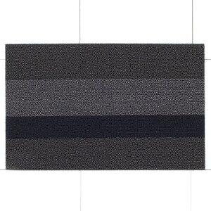【在庫限り】チルウィッチ 玄関マット シャグ ボールドストライプ/ シルバー×ブラック (Chilewich / Shag Bold Stripe) 【送料無料】 【ポイント10倍】