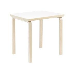 テーブル81C / ホワイトラミネート W75×D75cm (Artek / アルテック)