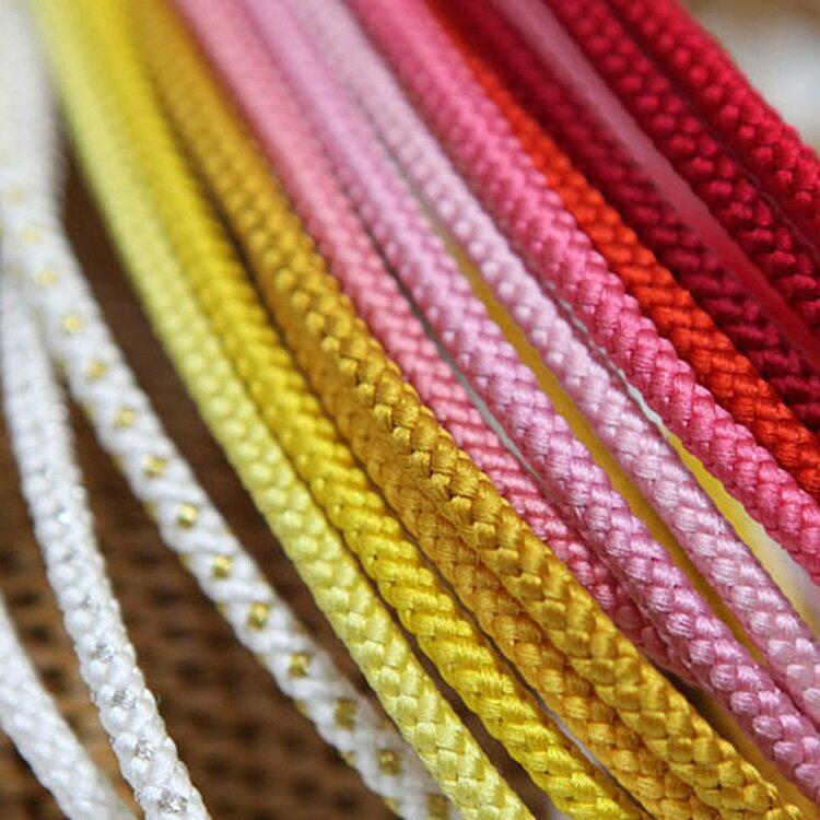 ◆メール便発送OK!!◆ 正絹組み紐 暖色 選べる全30色 個性的カラーであなただけのスタイルを! / 無地 帯締め 飾りひも 着物 浴衣 ニコアンティーク 01-04-13-005