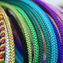 ◆メール便発送OK!!◆ 正絹組み紐 寒色 選べる全30色 個性的カラーであなただけのスタイルを! / 無地 帯締め 飾りひも 着物 浴衣 ニコアンティーク 0...