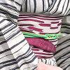 Pro-three points of yukata nostalgic set (yukata / Zone / clogs) guilt ivory stripe black natural cotton hemp point dyeing wind retro modishness of superior grade classic yukata set Lady's woman-related petit short small small size