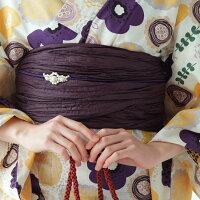 浴衣浴衣3点セット(浴衣/帯/下駄)大正浪漫可愛い個性的レトロモダン浴衣セット大人レディース女性白系ホワイトクリーム黄色紫薄紫向日葵ひまわり花柄ゆったりサイズ3L