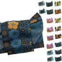 浴衣帯 作り帯 大人 レディース 簡単  帯単品 結び帯 18種類 付け帯 つくり帯 浴衣用 梅 花 幾何学 レース柄 北欧風 紫 茶 青 渋色
