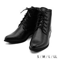ブーツ袴黒ブラックローヒールショートブーツ歩きやすいレディース卒業式入学式靴編み上げ22.0〜25.5cmSMLLL着物和装大正浪漫