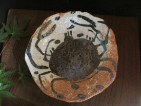 丸皿 佐藤和次作 絵織部 蟹紋五寸薬味皿(1皿)