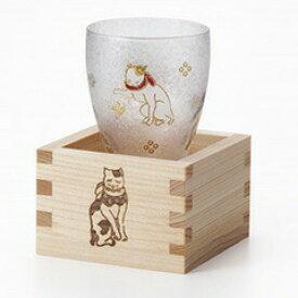 ADERIA(アデリア)プレミアムニッポンテイスト LUCKY ANIMALS ねこ 枡酒グラス 6782