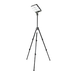 LEDハイブリッド投光機 9W×3灯 バッテリータイプ HTL305LF-M 新ダイワ 屋外対応LED投光器 作業灯 AC100V DC12V ソーラー充電対応 1150lm 3灯 昼光色 6500K 防塵 防雨 IP44