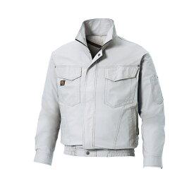 空調服 空調風神服 KU91400 長袖 ワークブルゾン 夏用作業着 サンエス 綿100% シルバー