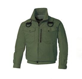 熱中症-空調風神服 長袖ワークブルゾン 47ディープグリーン