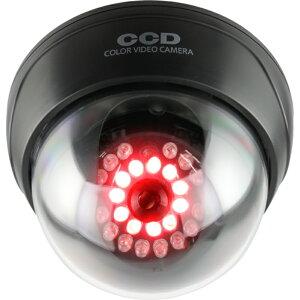 ダミーカメラ 赤外線ドーム型(発光T) OS-168R 赤色LED 明暗センサー搭載 屋内 天井設置タイプ