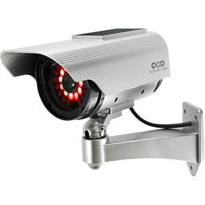 【ポイント2倍 9日1:59まで】ダミーカメラ ソーラーパネル付ボックス型(発光T)OS-163R 赤色LED 配線不要 軒下防滴仕様