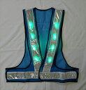 安全ベスト緑色 LEDベスト LEDチョッキ 安全ベスト 青/白 仙台銘板
