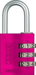 【ポイント2倍 9日1:59まで】【5個セット】ABUS南京錠 ナンバー可変式145/30PIピンク 仙台銘板