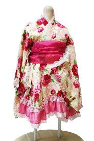 3cc9aba31687a 着物ドレス と兵児帯セット−クリーム色・七歳向き(120サイズ