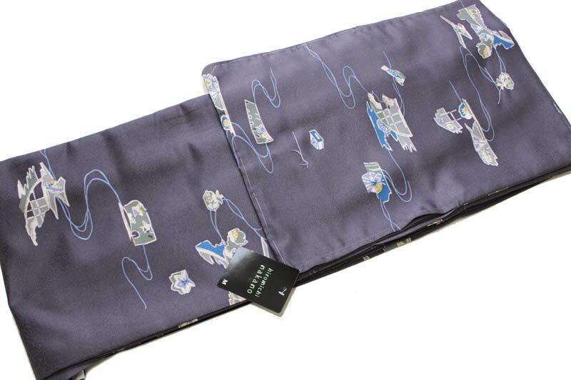 ヒロミチナカノ/お仕立て上がり単衣の着物-No.007(hiromichi nakanoブランド)【地色:紫色/単衣時期5月下旬から10月頃まで対応】