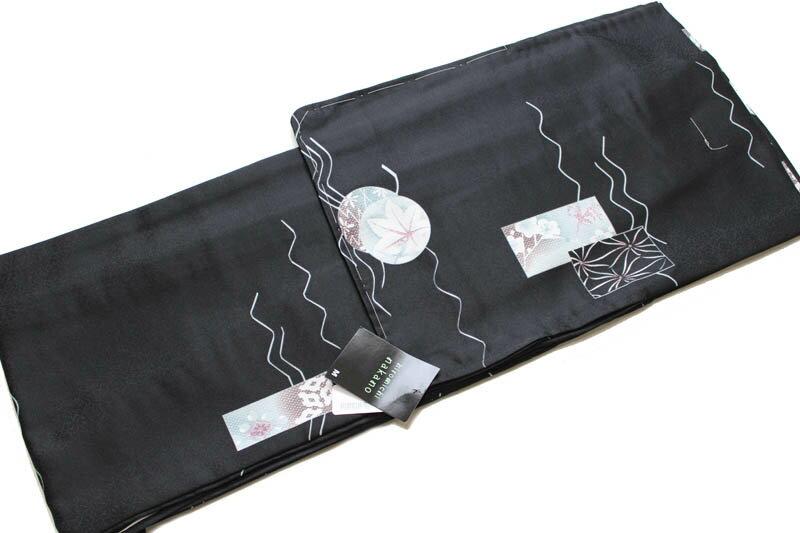 ヒロミチナカノ/お仕立て上がり単衣の着物-No.008(hiromichi nakanoブランド)【地色:黒色/単衣時期5月下旬から10月頃まで対応】