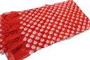 女の子用絞りの兵児帯-綿素材(地色:赤茶系色/1才から5才位まで対応可/長さ2.8メートル)