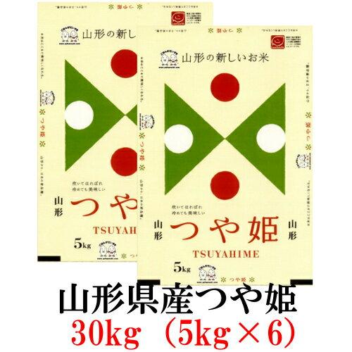 お米 30kg(5kg×6) 山形県産つや姫 平成29年産