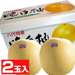 熊本産晩白柚2玉【化粧箱】【送料無料】【果物ギフト】【ギフト・ご贈答用】【バンペイユ】