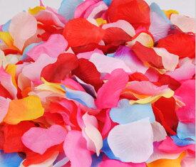 フラワーシャワー 結婚式 8色MIX 造花 花びら ウエディンググッズ 2次会 パーティー お祝い たっぷり1100枚