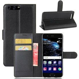 Huawei P10 ファーウェイ カバー 手帳型 ケース スタンド レザーデザイン カード 収納 ポケット 各色あり