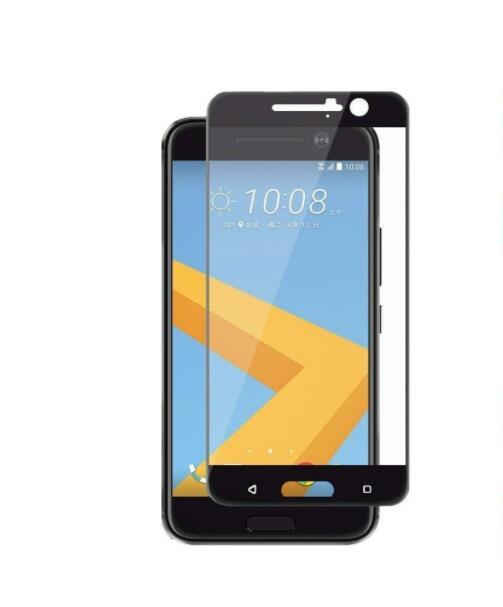 HTC 10 HTV32 強化ガラス フィルム (HTC One M10) 2016 全面保護 film black シート