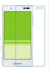 au Qua phone QX キュアフォン KYV42 KYOCERA 京セラ フィルム 保護フィルム クリア シートfilm 液晶 光沢タイプ pet