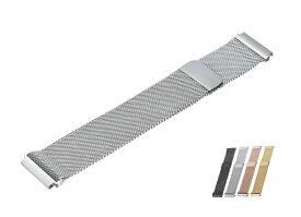 時計バンド ウォッチベルト マグネット式腕時計バンド スマート時計バンド 全4色 幅14mm 16mm 18mm 20mm 22mm 24mm 交換ベルト メッシュバンド ミラネーゼバンド