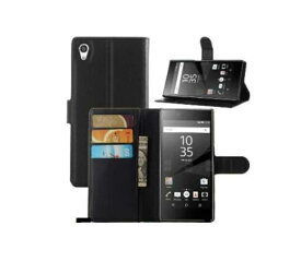 SONY Xperia Z5 Premium SO-03H カバー 手帳型 ケース スタンド レザーデザイン カード 収納 ポケット ハードケース