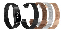 Fitbit Inspire / Fitbit Inspire HR / ace2 バンド ステンレスベルト フィットビット L Sサイズ ウォッチ 交換ベルト 腕時計ハンド シルバ