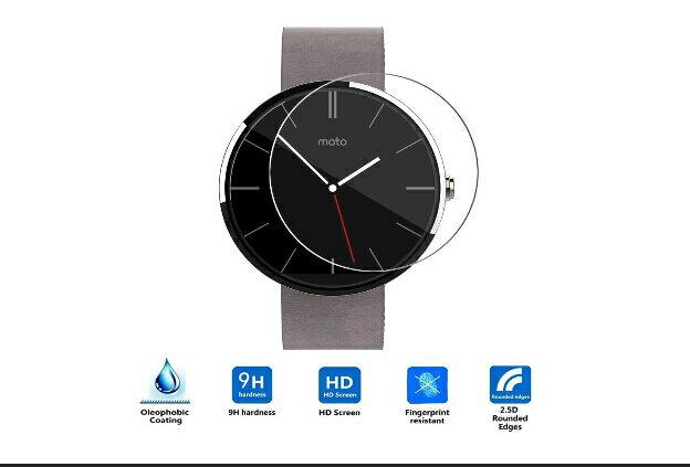Moto 360 2nd Gen 2015 Smart Watch スマートウォッチ 42mm ガラスフィルム フィルム 液晶保護フィルム 、強化ガラス 保護シート