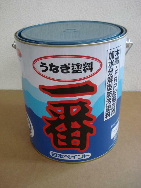 うなぎ塗料一番 青 4kg 日本ペイント 『送料無料』 船底塗料 うなぎ一番 ブルー うなぎ1番