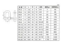 ステンレスシャックル10mmPC−10