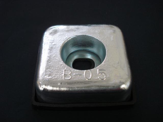 亜鉛板 KZC-B-0.5 20×75×75