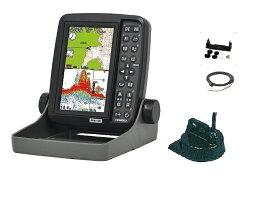 HONDEX ホンデックス ポータブル 魚群探知機 PS-611CN+電源コード+架台セット 5型ポータブルGPSプロッター魚探 PS-611CN電源コード・架台セット