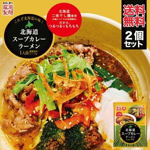 ラーメン 送料無料 藤原製麺 北海道スープカレーラーメン 1食 2個セット 北海道 お土産 メール便 スープカレー 乾麺 即席 つるつる もちもち さらさら 人気 手土産 自宅で ギフト 送料込