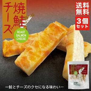 焼鮭チーズ 48g 8個入 ×3個セット 送料無料 メール便 丸市食品 北海道 お土産 鮭 サーモン チーズ 珍味 おつまみ お菓子 ギフト プレゼント お取り寄せ