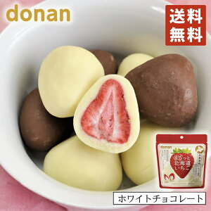 donan まるっと北海道いちご ホワイトチョコレート×2個セット 北海道 いちご お菓子 お土産 手土産 プレゼント
