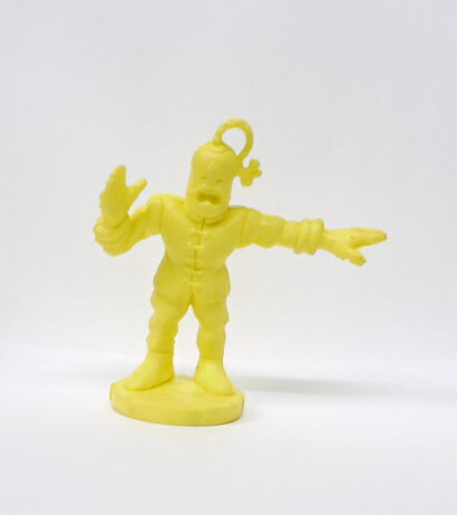 キン消し(キンケシ) 超人 ラーメンマン A 黄色 台座付き キン肉マン消しゴム ゆでたまご【中古】