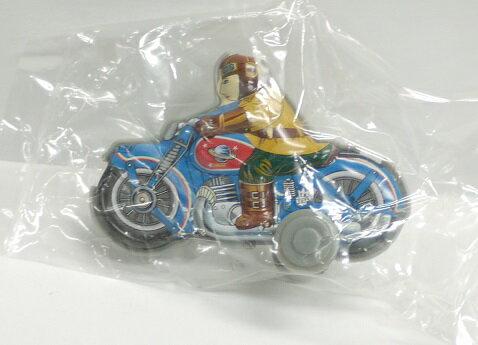 【内袋未開封】ブリキのおもちゃ館 北原コレクション モーターバイク フレンドリーブルー  明治チョコレート 食玩