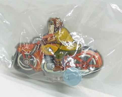 【内袋未開封】ブリキのおもちゃ館 北原コレクション モーターバイク フレンドリーレッド 明治チョコレート 食玩