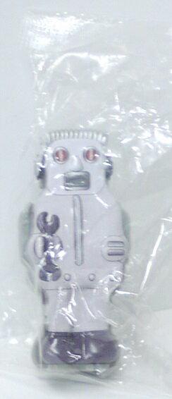 【内袋未開封】ブリキのおもちゃ館 北原コレクション ズーマー・ザ・ロボット シルバー 明治チョコレート 食玩